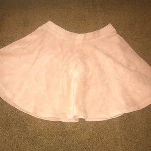 velvet-y ribbed skirt